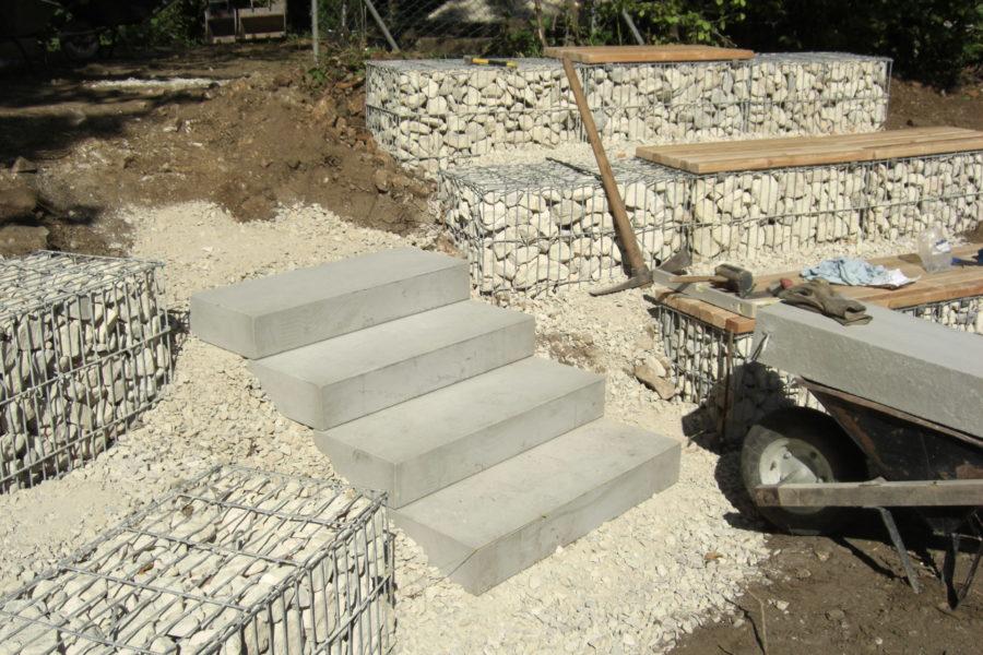 Arena Bau Treppe